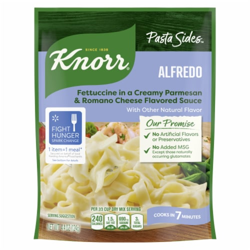 Knorr Pasta Sides Alfredo Fettuccini Perspective: top