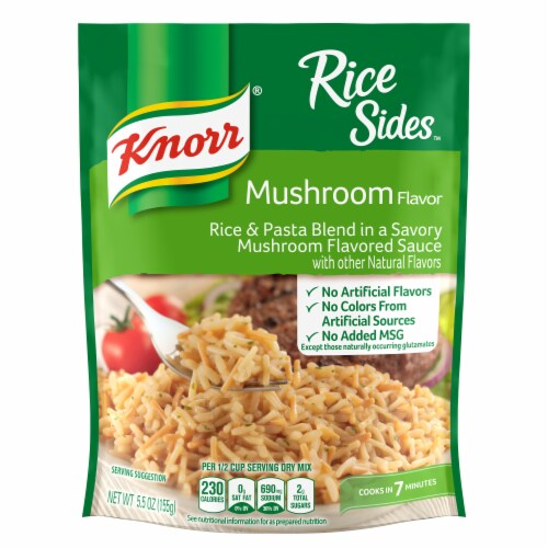 Knorr Rice Sides Mushroom Flavor Rice and Pasta Blend Perspective: top
