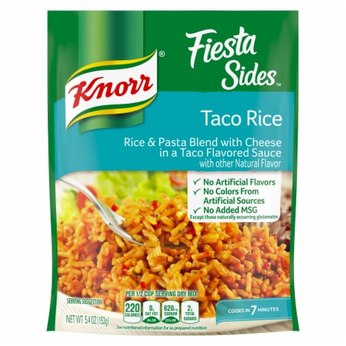 Knorr Fiesta Sides Taco Rice and Pasta Blend Perspective: top