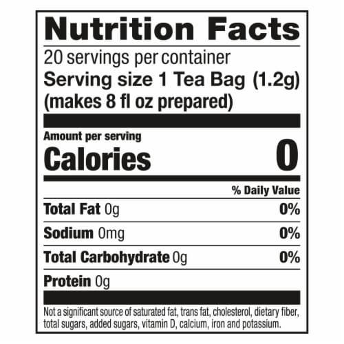 Lipton Purple Acai Blueberry Green Tea Bags Perspective: top