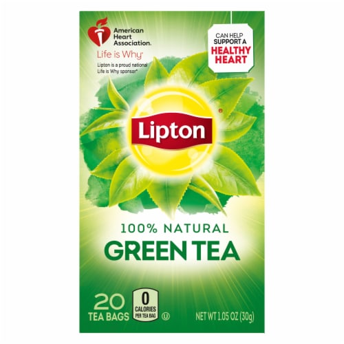 Lipton Natural Green Tea Bags Perspective: top