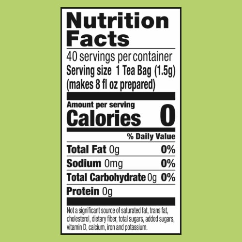 Lipton 100% Natural Green Tea Bags Perspective: top