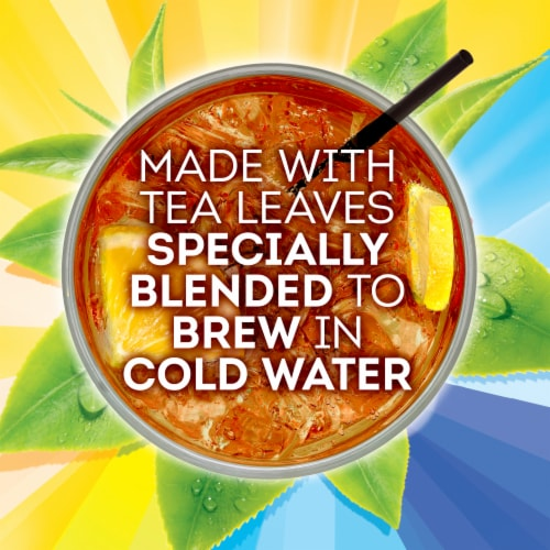 Lipton® Cold Brew Black Iced Tea Bags Family Size Perspective: top