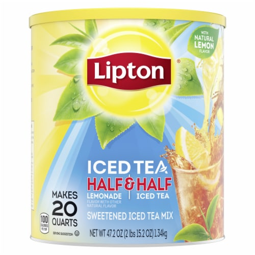 Lipton Half & Half Lemonade & Sweetened Iced Tea Mix Perspective: top