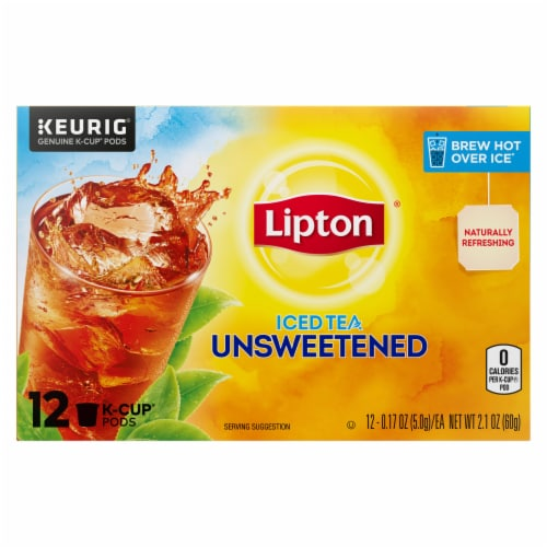 Lipton Unsweetened Iced Tea K-Cup Pods Perspective: top