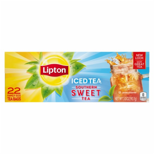Lipton Southern Sweet Family-Sized Iced Tea Bags Perspective: top