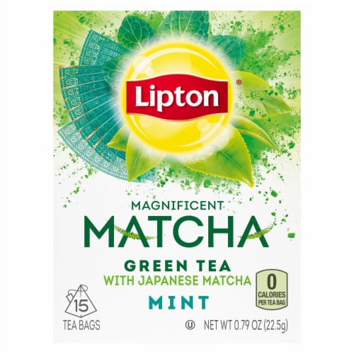 Lipton® Magnificent Matcha Mint Green Tea Bags Perspective: top