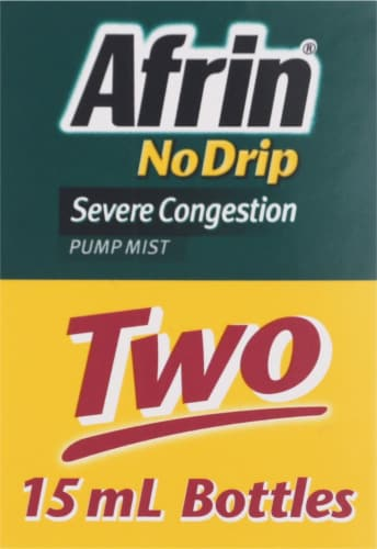 Afrin Severe Congestion Pump Mist Twin Pack Perspective: top