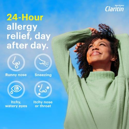 Claritin 24 Hour Non-Drowsy Indoor & Outdoor Allergy Relief Reditabs 10mg Perspective: top