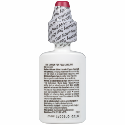 Afrin Severe Congestion Nasal Spray Perspective: top