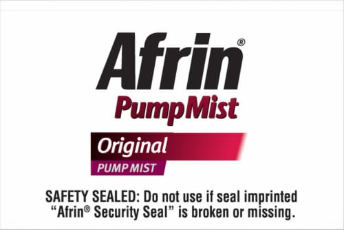 Afrin Original Pump Mist Perspective: top