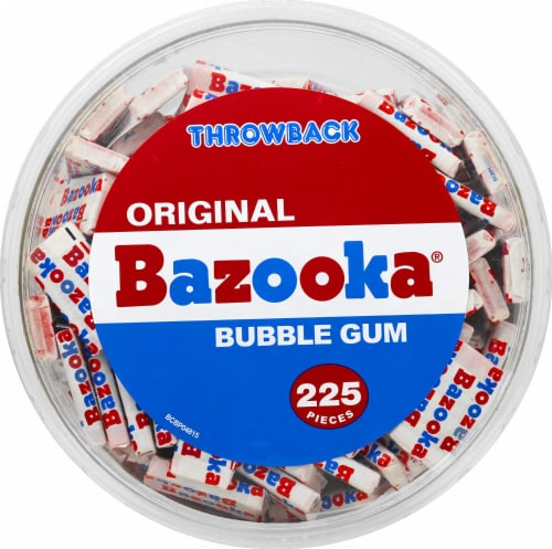 Bazooka Original Bubble Gum 225 Count Perspective: top