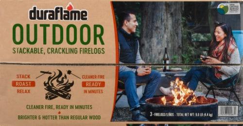 Duraflame Outdoor Stackable Crackling Firelogs Perspective: top