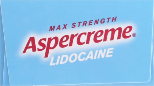 Aspercreme with Lidocaine Fragrance-Free Maxium Strength Pain Relief Cream Perspective: top