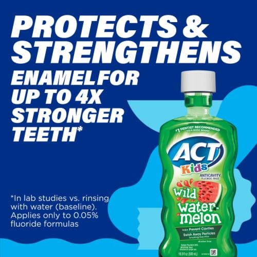 ACT Kids Wild Watermelon Anticavity Fluoride Rinse Mouthwash Perspective: top
