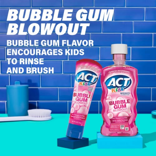 Act Kids Bubblegum Blowout Anticavity Fluoride Rinse Perspective: top