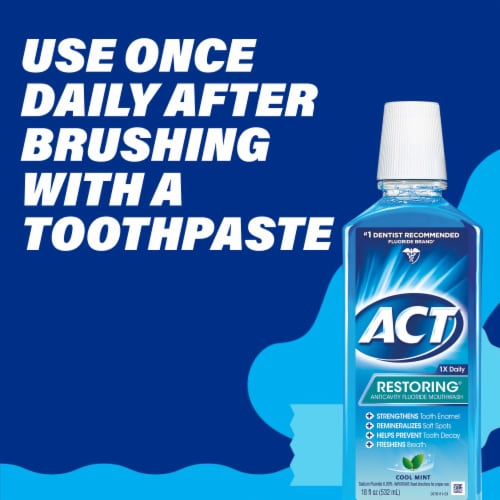 Act Cool Mint Restoring Anticavity Fluoride Mouthwash Perspective: top
