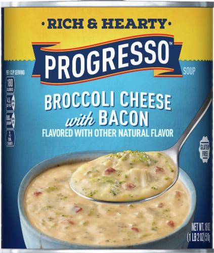 Progresso Rich & Hearty Broccoli Cheese with Bacon Soup Perspective: top