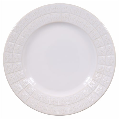 Dash of That™ Brooklyn Dinner Plate - White Perspective: top