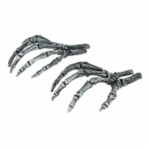 Holiday Home Skeleton Hand Decor - Silver Perspective: top
