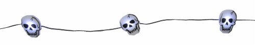 Holiday Home® 20 LED Skull String Lights - White Perspective: top
