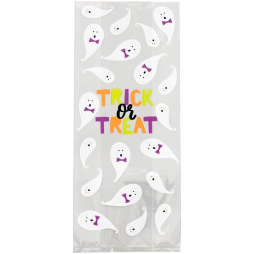 Holiday Home Halloween Trick or Treat Bags and Ties - 20 Pack Perspective: top