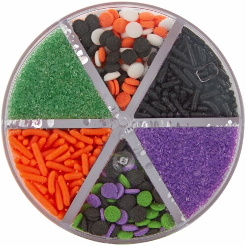 Holiday Home Halloween 6-Cell Brights Mix Sprinkles Perspective: top