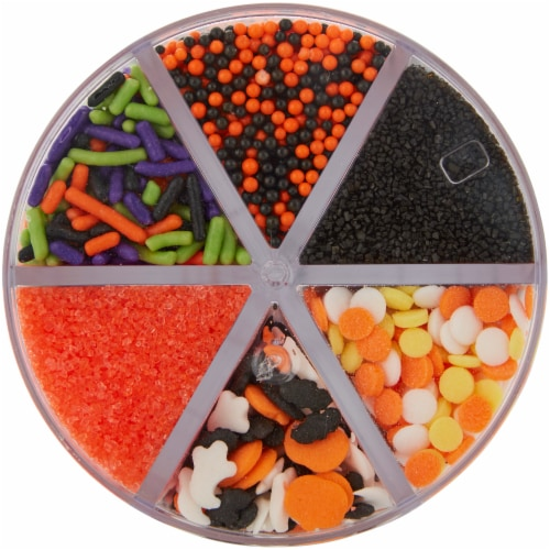 Holiday Home Halloween 6-Cell Shapes Mix Sprinkles Perspective: top