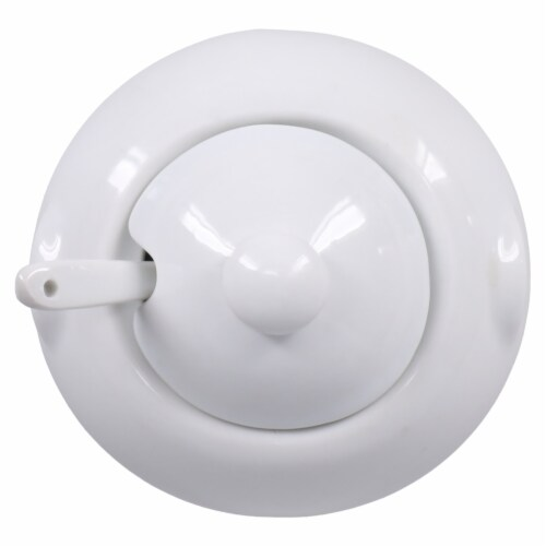 Dash of That™ St John Sugar Bowl with Spoon - White Perspective: top