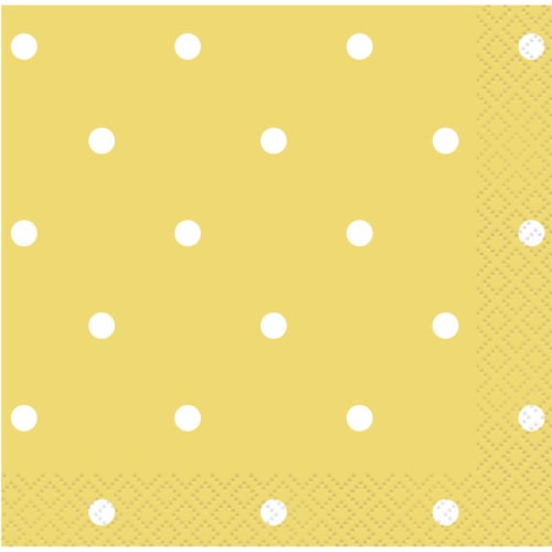 Kroger® Entertainment Essentials Polka Dot Beverage Napkins - Yellow Perspective: top