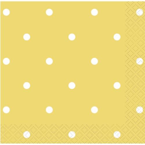 Kroger® Entertainment Essentials Polka Dot Beverage Napkins - Yellow Perspective: top