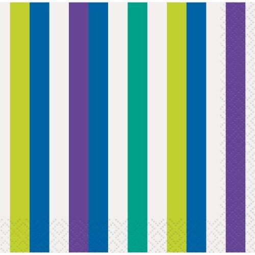 Kroger® Entertainment Essentials Cool Stripes Beverage Napkins - Green Perspective: top