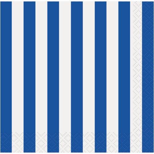 Kroger® Entertainment Essentials Simple Stripe Beverage Napkins - Blue Perspective: top
