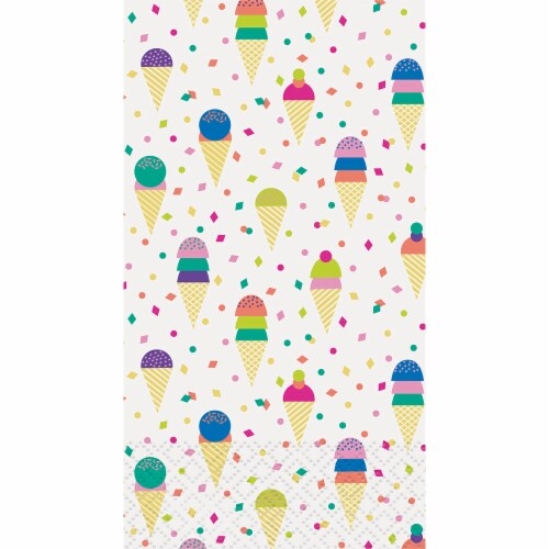 Kroger® Entertainment Essentials Ice Cream Guest Napkins - White Perspective: top