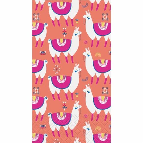 Kroger® Entertainment Essentials Napkins - Llamas Pink - 24 Pack Perspective: top
