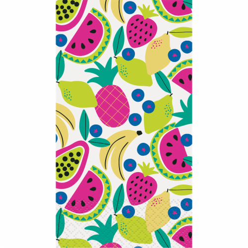 Kroger® Entertainment Essentials Tropical Brunch Guest Napkins - Green Perspective: top