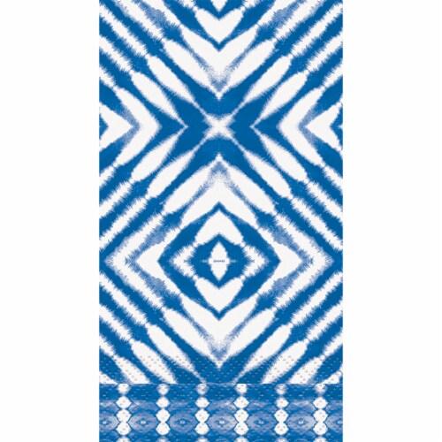 Kroger® Entertainment Essentials Shiborhi Diamond Guest Napkins - Blue Perspective: top