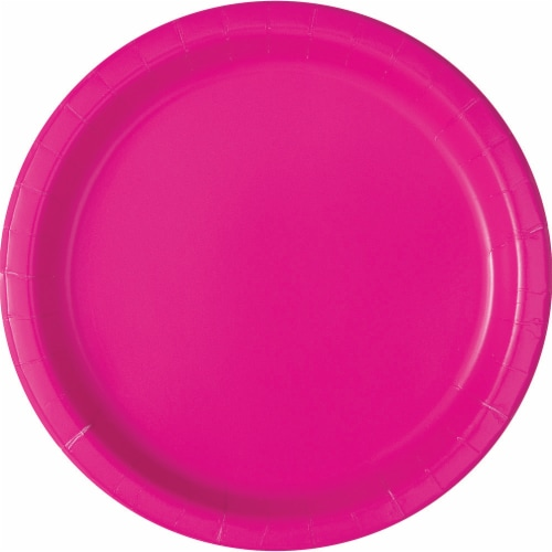 Kroger® Entertainment Essentials Paper Plates - Shocking Pink Perspective: top