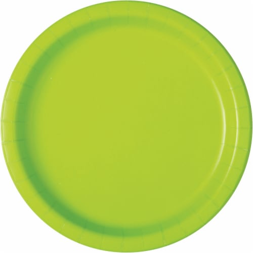 Kroger® Entertainment Essentials Paper Plates - 8 Pack - Lime Green Perspective: top