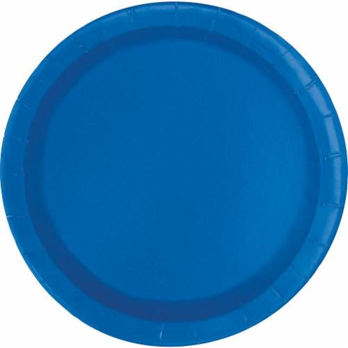 Kroger® Entertainment Essentials Paper Plates - Blue Perspective: top