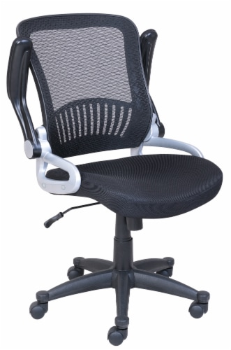 HD Designs Soho Mesh Manager Chair - Black/Silver Perspective: top