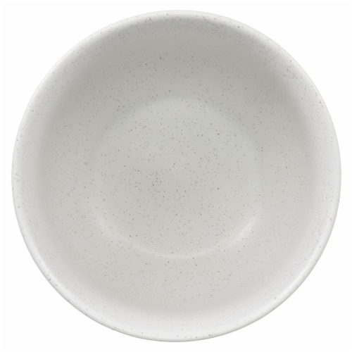Dip™ Two Tone Dotted Cereal Bowl - White Perspective: top