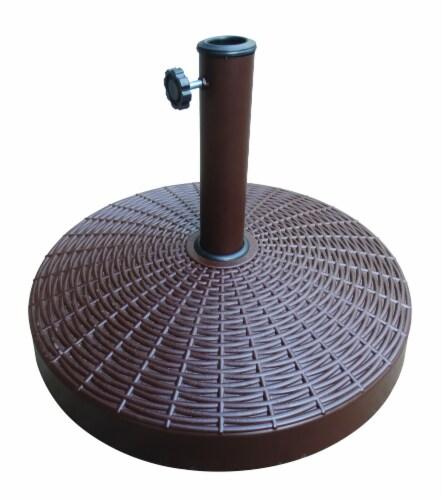 HD Designs Outdoors Umbrella Base - Brown Perspective: top