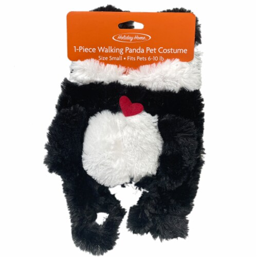 Holiday Home® Panda Small Pet Costume Perspective: top