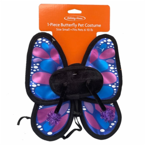Holiday Home® Small Butterfly Pet Costume Perspective: top