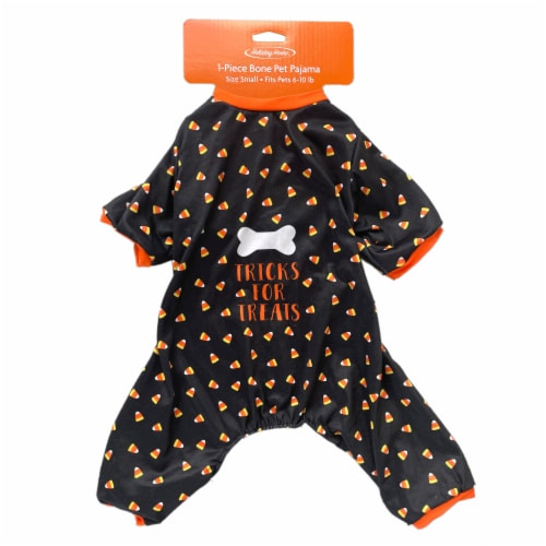 Holiday Home Bone Tricks for Treats Small Pet Pajamas Perspective: top
