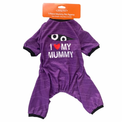 Holiday Home Mummy Small Pet Pajamas Perspective: top