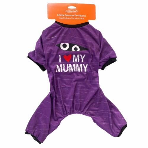 Holiday Home Mummy Medium Pet Pajamas Perspective: top