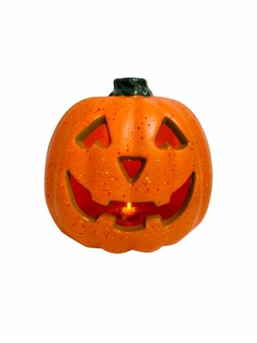 Holiday Home Light Up Speckled Jack-O-Lantern Decoration - Orange Perspective: top
