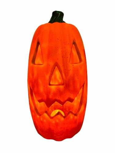 Holiday Home® Light Up Tall Antique Pumpkin Decoration Perspective: top